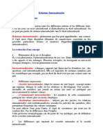 Cours de Relations Internationales (1)