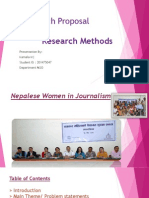 Research Proposal Nepal journalism
