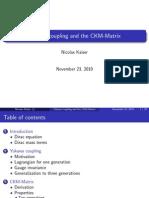 Yukawa Kopplung&CKM Matrix