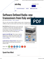 Software Defined Radio_ New Transceivers From Italy and India