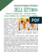 Comunità Pastorale di Uggiate e Ronago Agenda della Settimana Ss. Trinità