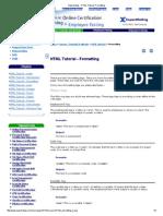 Expertrating - HTML Tutorial, Formatting3