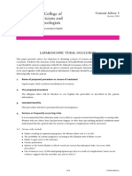 Consent Advice Laparoscopic Tubal Occlusion