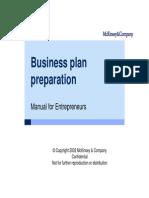 McKinsey Handbook How To Write A Business Plan Tech Start Ups - Mckinsey business plan template