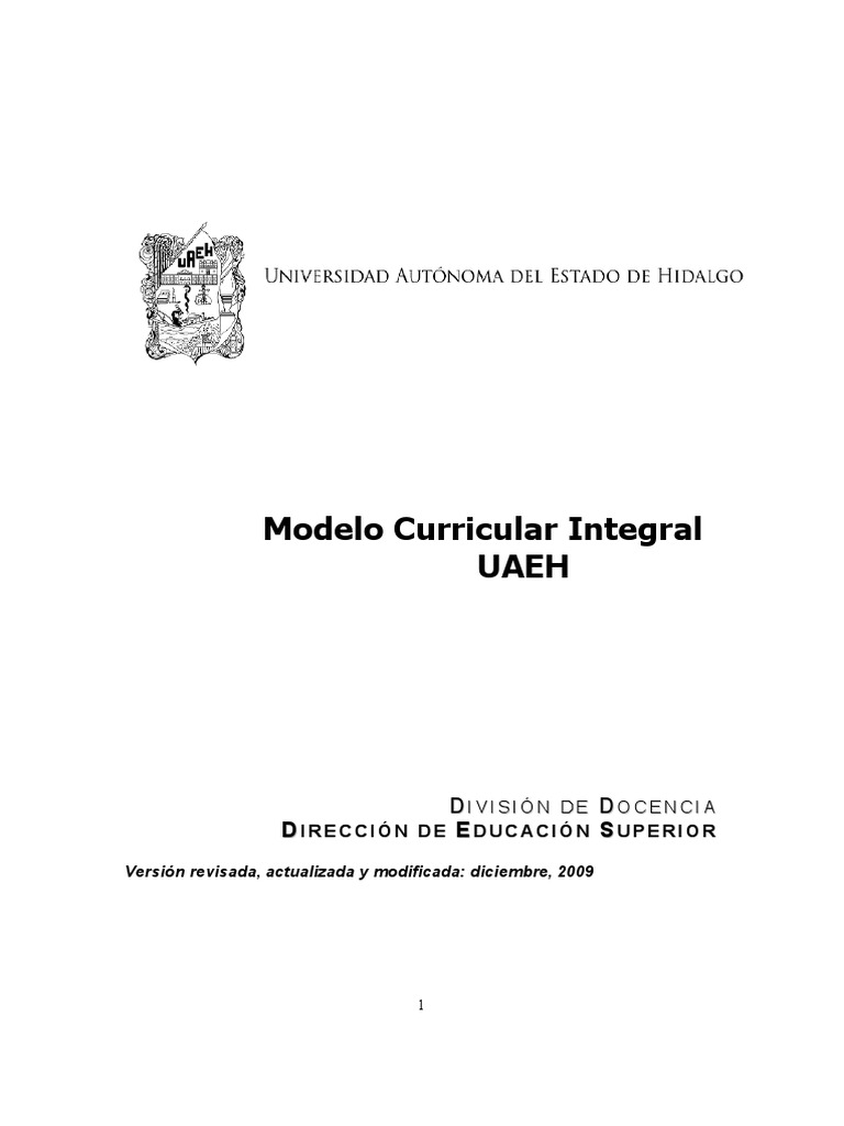Modelo Curricular Integral UAEH