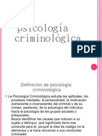 Psicología Criminológica presentacion