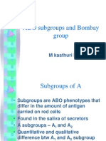 ABO Subgroups and Bombay Group