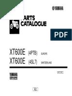 Yamaha XT600E Parts Catalogue English