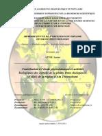 Contribution a Letude Phytochimique Et Activites Biologiques Des Extraits de La Plante Ruta Chalepensis(Fidjel)de La Region DAinTemouchent