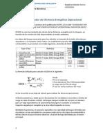 Cálculo del Indicador de Eficiencia Energética Operacional
