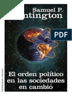 El Orden Político en Las Sociedades en Cambio (Samuel S. Huntington)