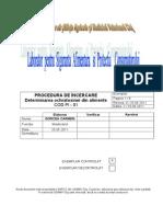 Procedura Determ Ochratoxinei Din Alimente