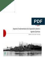 Aspectos Fundamentales de La Exposicion Laboral a Agentes Quimicos