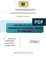 Contours de Politique Commerciale Marocaine.