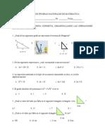 Folleto de Pruebas Nacionales de Matematica