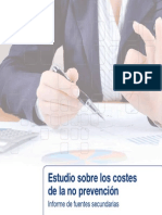 Informe Fuentes Secundarias Costes No Prevencion