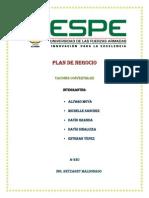 Plan de Negocios Corregido y Analisis Tecnico