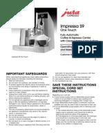 Manual Jura Impressa s9otc Ul English