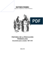 Historia de La Educacion Venezolana - Documentos - 1687-1870 (Junio 12)