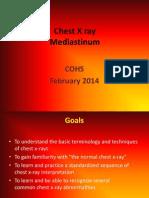 Chest X Ray Mediastinum Cohs Febr 2014