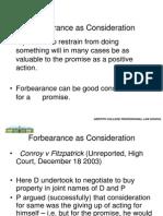 Consideration - Forbearance