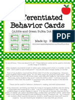 Differentiated Behavior Cards Apples and Green Polkadot s