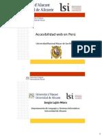 Accesibilidad Web en Peru