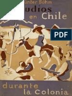 Los Judios en Chile Durante La Colonia - Günter Böhm