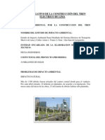 Impacto Negativo de La Construcción Del Tren Electrico de Lima