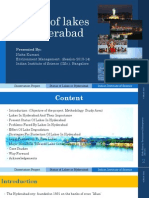 Status of Lakes in Hyderabad