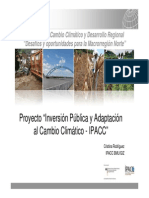 Inversion Publica y Adaptacion Al Cambio Climatico