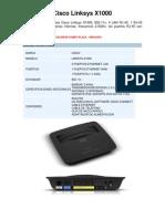 Cisco Linksys X1000