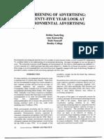 The Greening of Advertising !