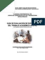 (1ra. Unidad) Ficha de Evaluación de Exposición Del Trabajo Académico Grupal