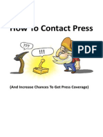 How To Contact Press - And Increase Chances To Get Press Coverage