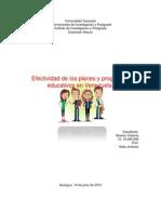Planes y Proyectos Educativos (Ensayo)