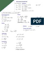 Fórmulas de Geometria Espacial - Áreas e Volumes