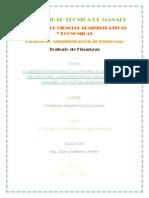 El Sistema Financiero y Su Aporte Al Desarrollo de Las Pymes