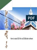 How to Create EDS via EDSBuilder