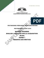 PT3 Sample ReadingWriting