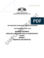 PT3 Sample ReadingWriting