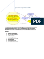 Chapter 15- Lean Operations and JIT