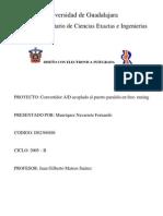 Convertidor ADC PuertoParalelo