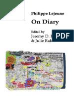 Philippe Lejeune - On Diary