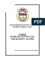 Curso Base de Datos Con Microsoft Access