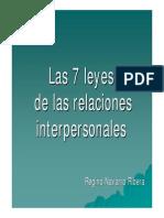7 Leyes de Las Relaciones Interpersonales