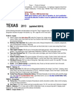 TEXAS Points of Interest 2013
