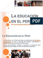 La Educación en El Perú