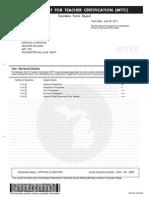 mttc social studies score report