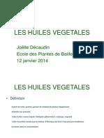 Les Huiles Vegetales Pp 2014